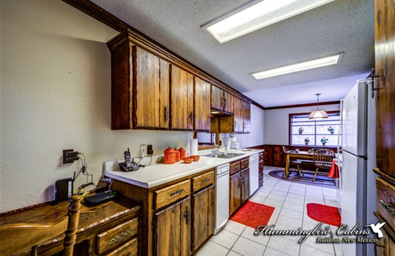 Kitchen at Hummingbird Cabins - Timberline Townhouse Vacation Rental