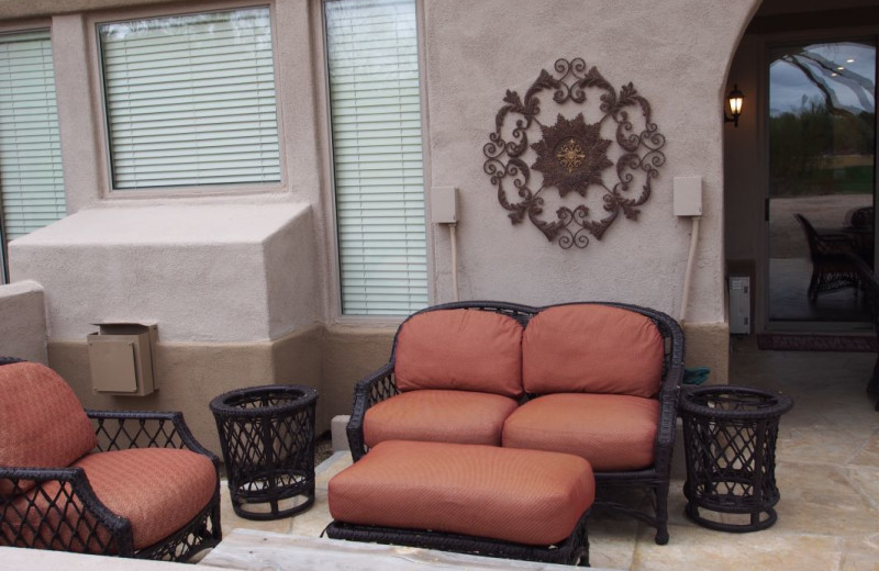 Vacation rental patio at SkyRun Vacation Rentals - Scottsdale, Arizona.