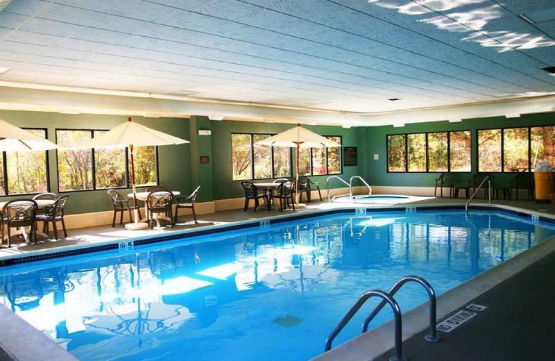 Indoor pool at Hampton Inn Traverse City.
