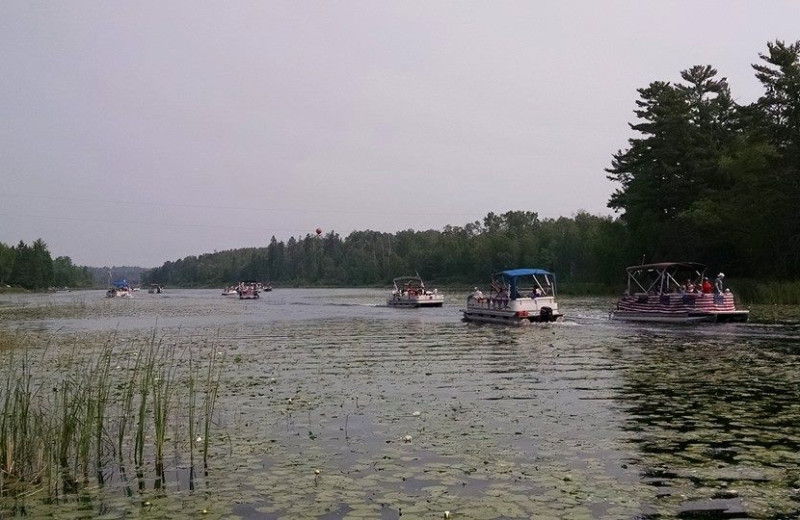 Boating at Little Norway Resort.