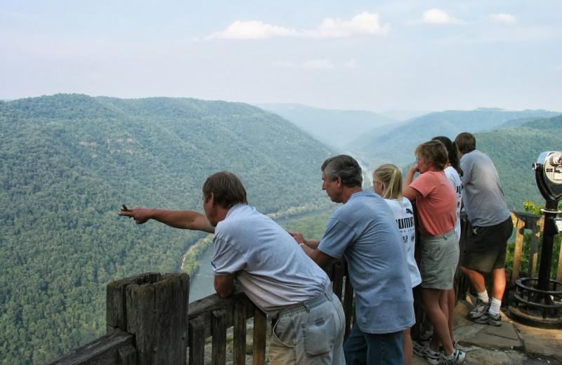 Scenic overlook at The Cabins at Pine Haven.