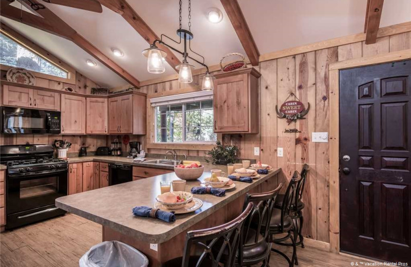 Rental kitchen at Vacation Rental Pros - Ruidoso.
