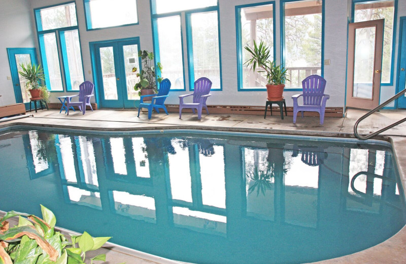 Indoor pool at Pine River Lodge.