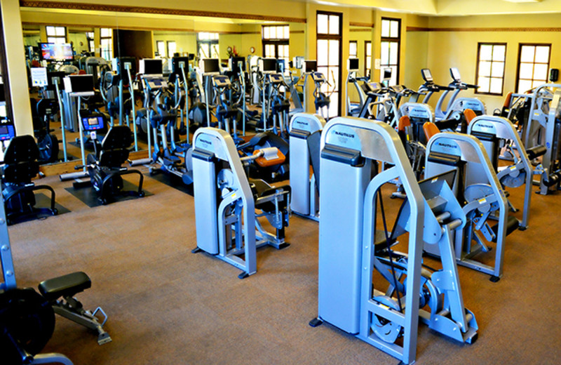 Fitness room at The Wigwam Resort.