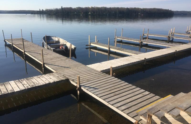 Dock at Southview Cottages Resort.