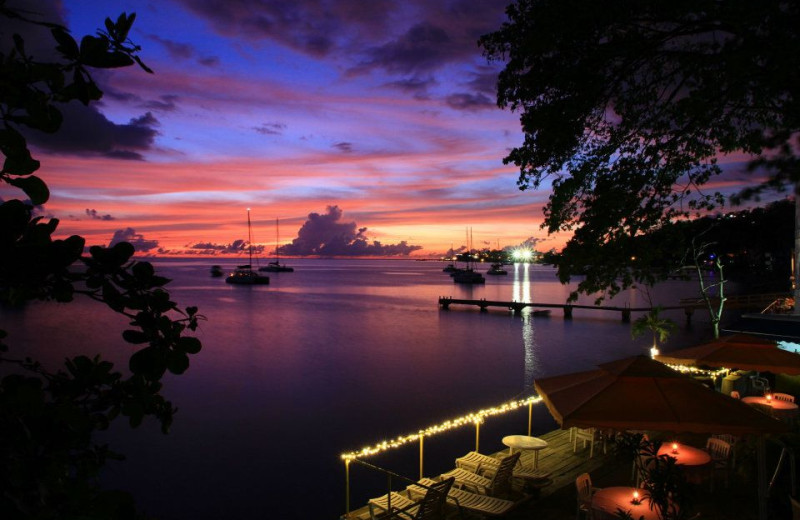 Sunset at Dive Dominica and Castle Comfort Lodge.