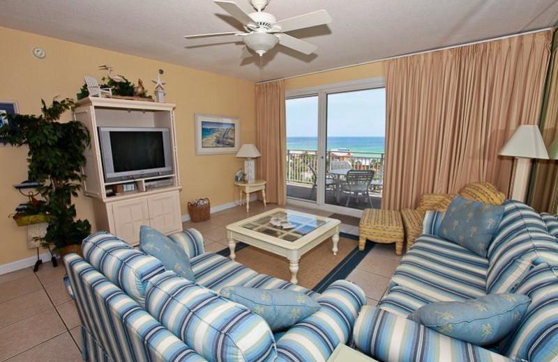 Rental living room at Sterling Shores.