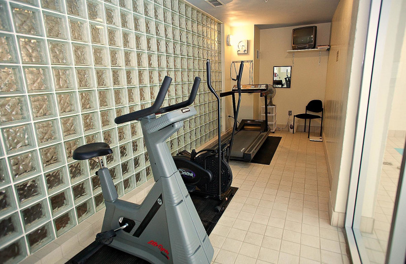 Fitness room at Harrison Beach Hotel.