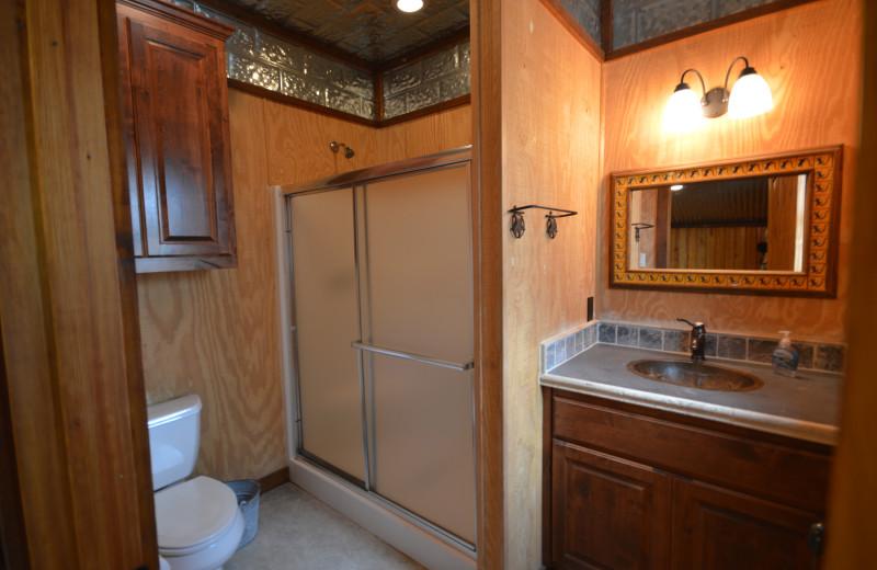Rental bathroom at Frio Family Getaway