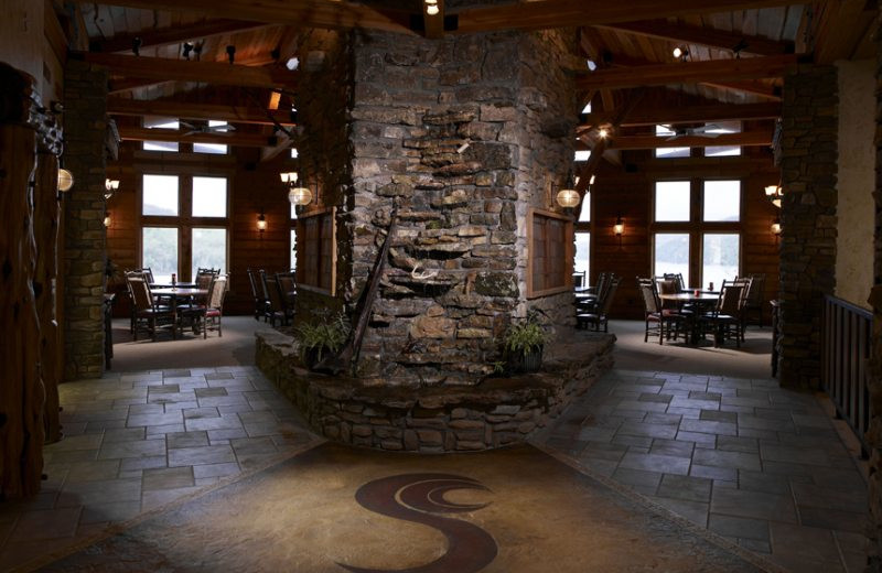 Lodge lobby at Stonewater Cove Resort.