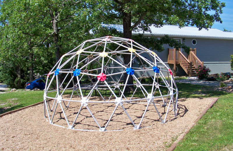 The kids are sure to love the onsite jungle gym at Tribesman Resort.