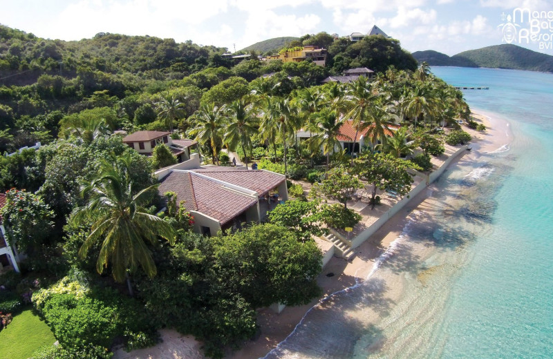 Aerial view of Mango Bay Resort.