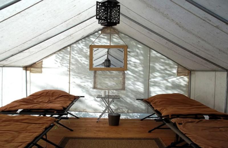 Camping at South Fork Lodge.