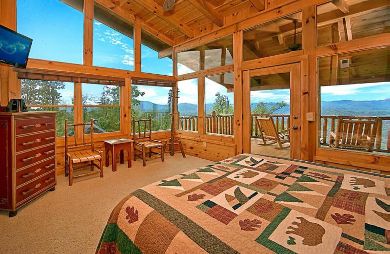 Rental bedroom at American Mountain Rentals.