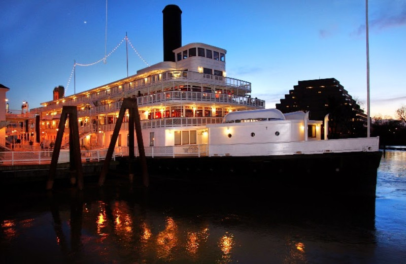Exterior view of Delta King.