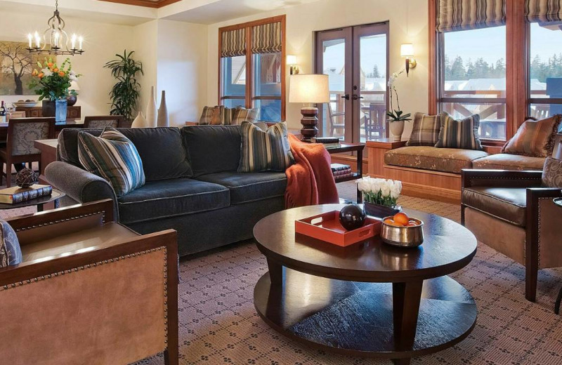 Suite interior at Four Seasons Resort Whistler.