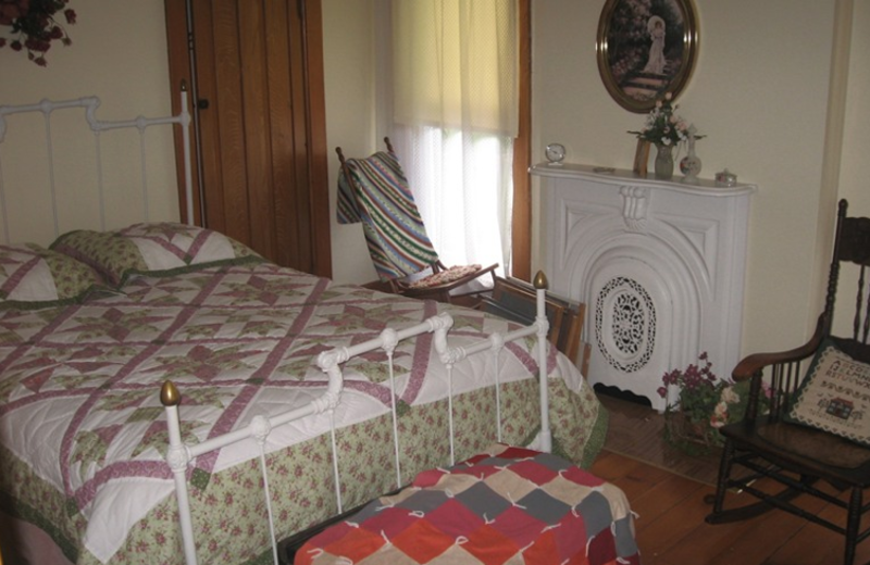 Guest room at Red Brick Inn.