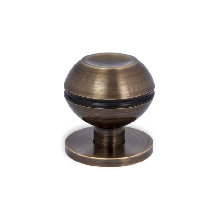 Beacon Hill Knob Satin Brass and Black and Textured Oil Rubbed Bronze