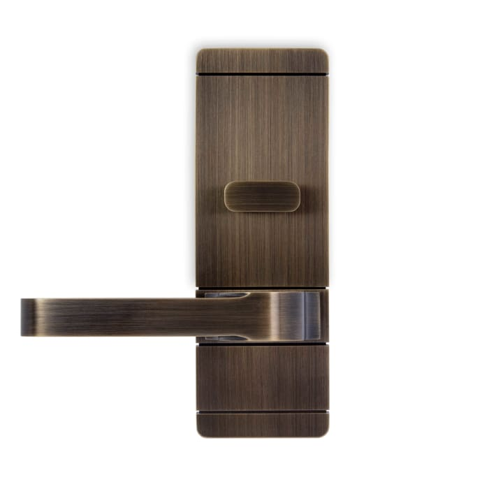 Pacific Heights Lever Satin Brass and Black