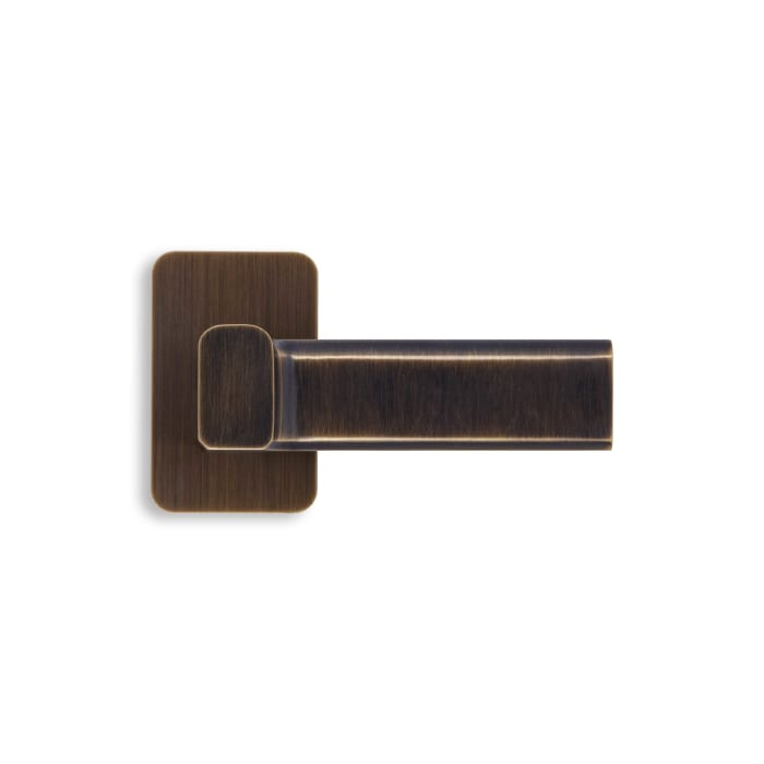 Lake Shore Lever Satin Brass and Black