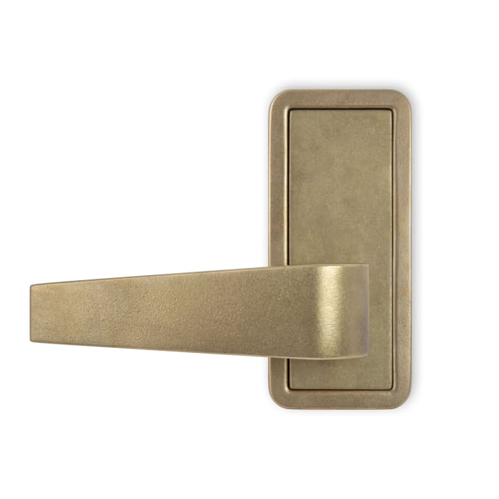 Tribeca Lever Antique Polished Brass
