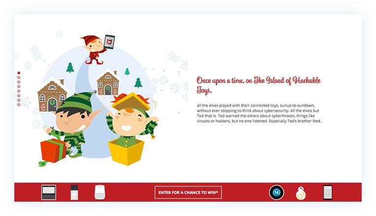 McAfee Holiday Promotion Website