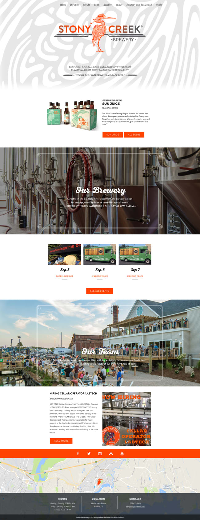 Stony Creek Brewery Website