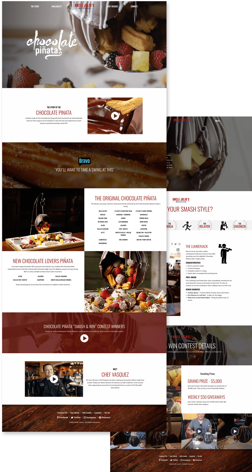 Chocolate Pinata Microsite Design