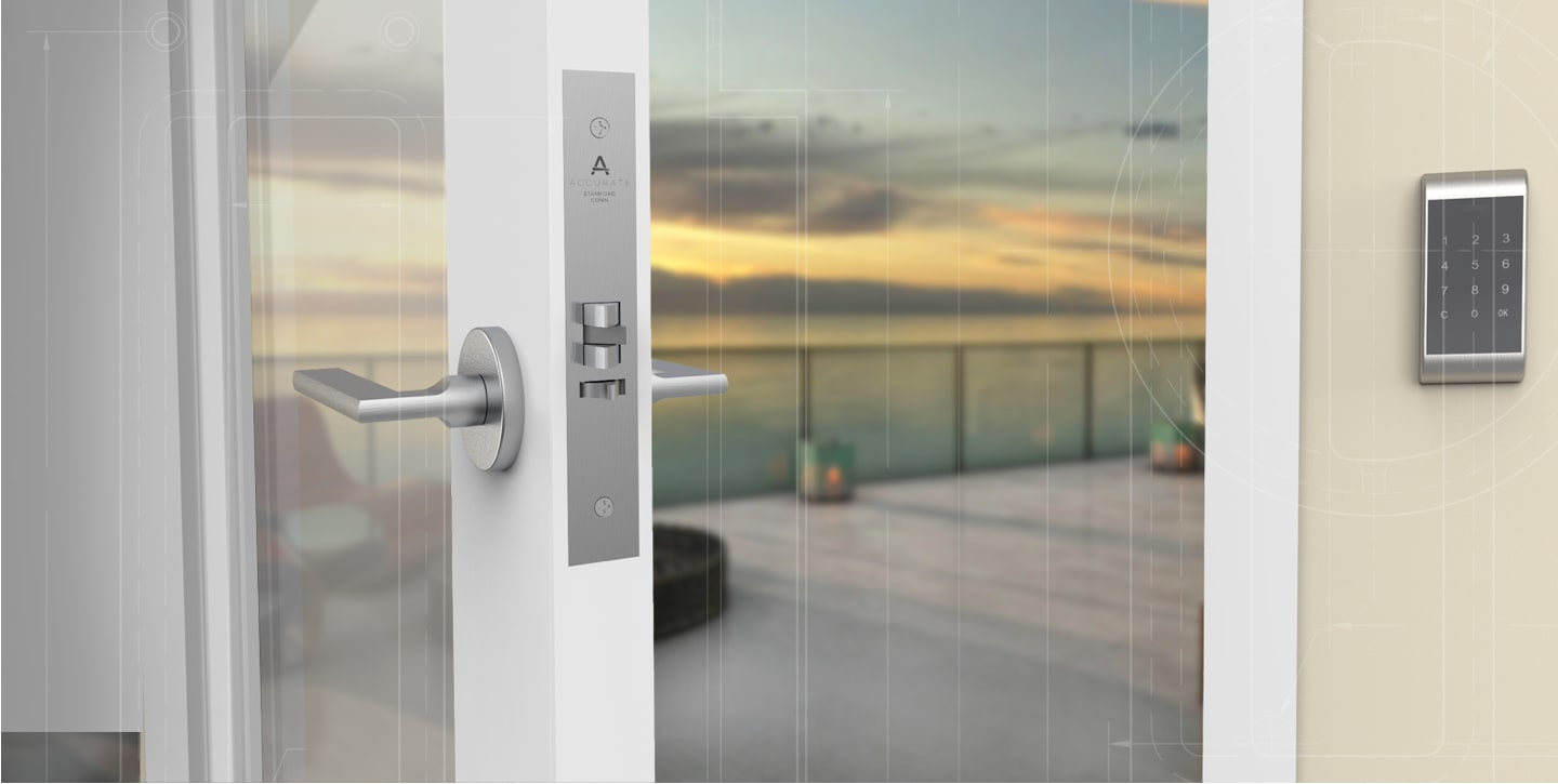 Door hardware room rendering
