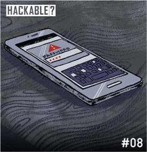 Smartphone hacking illustration