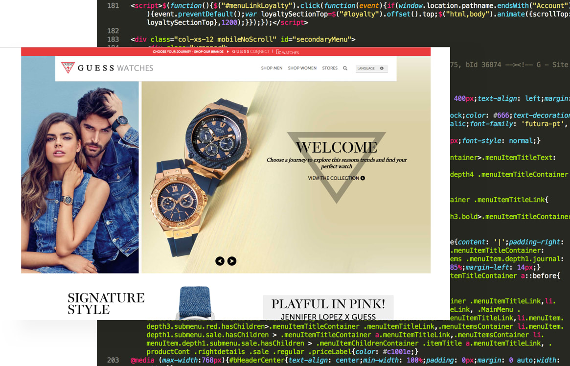 Guess Watches Website