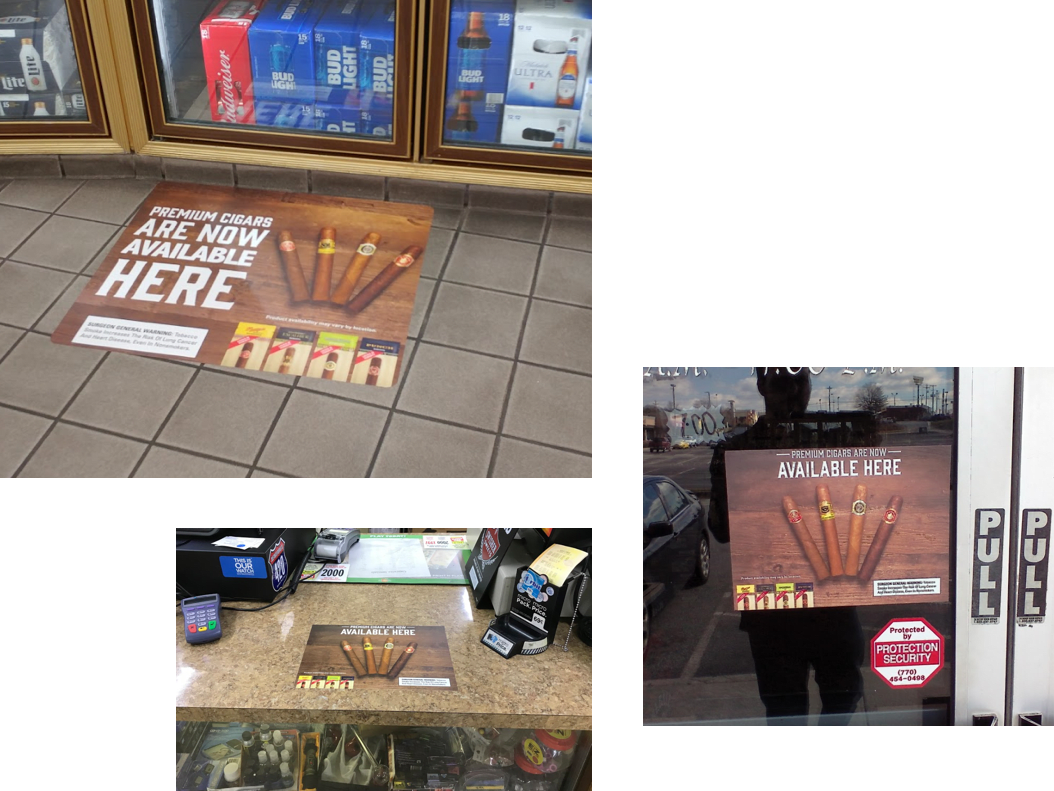Cigar Marketing Floor Graphics, Cigar Marketing signage, Cigar marketing counter signage