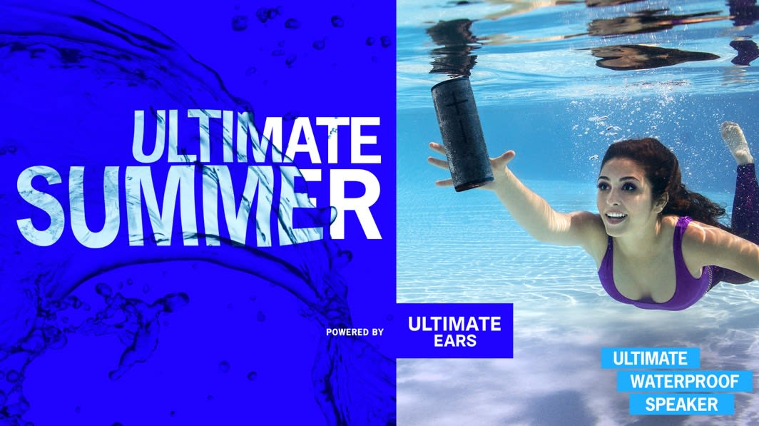 Ultimate Ears - underwater speaker ad.