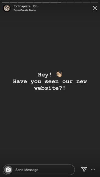 Instagram story - Have you seen our new site?