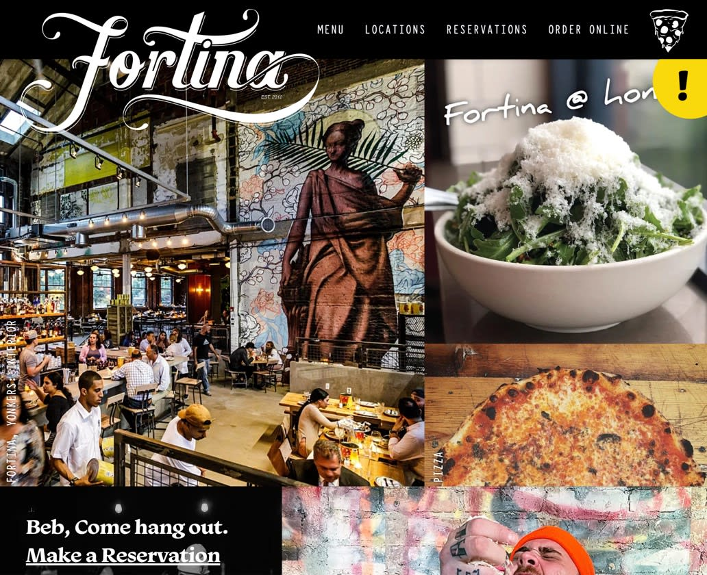 Preview of redesigned Fortina homepage.