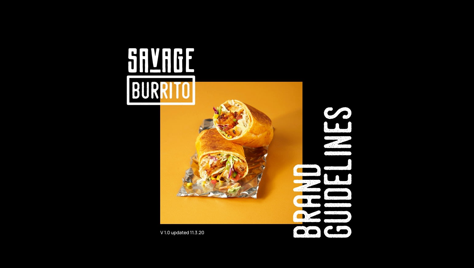 Savage Burrito brand guidelines.