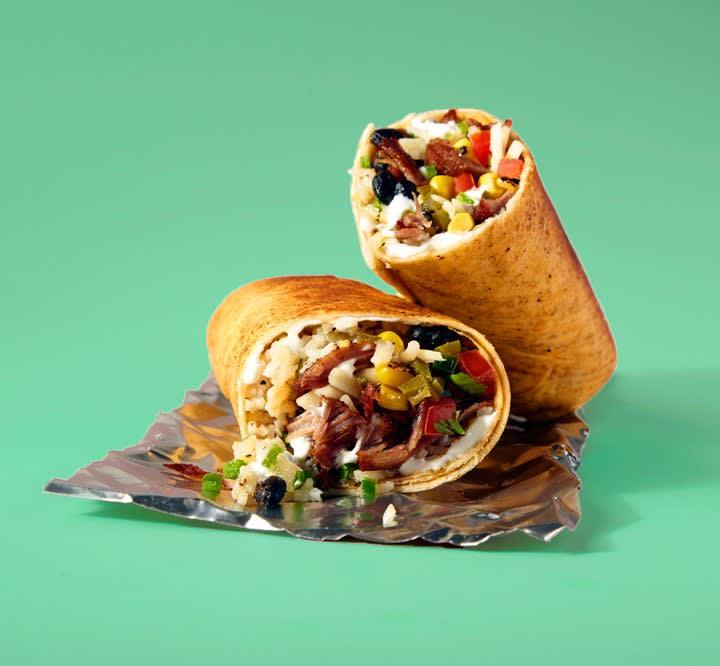 Product shot of Savage Burrito burrito.