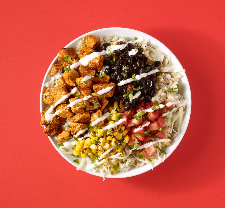 Product shot of Savage Burrito bowl.