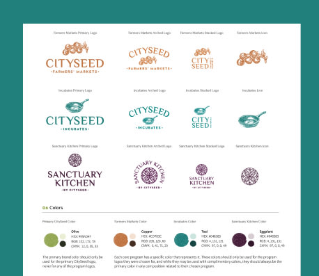 Cityseed logo and style guide