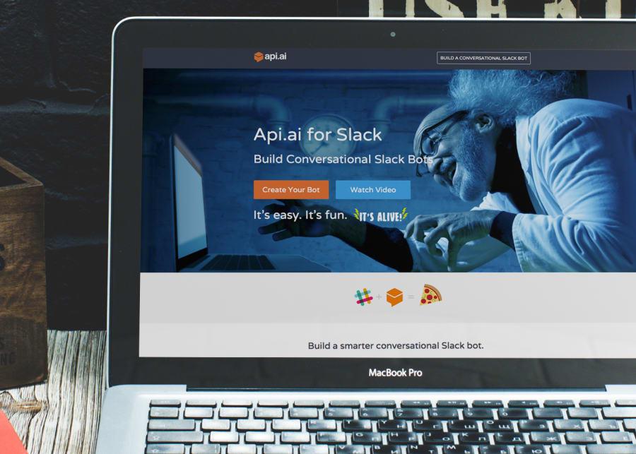 API.ai Slack Landing Page & Video