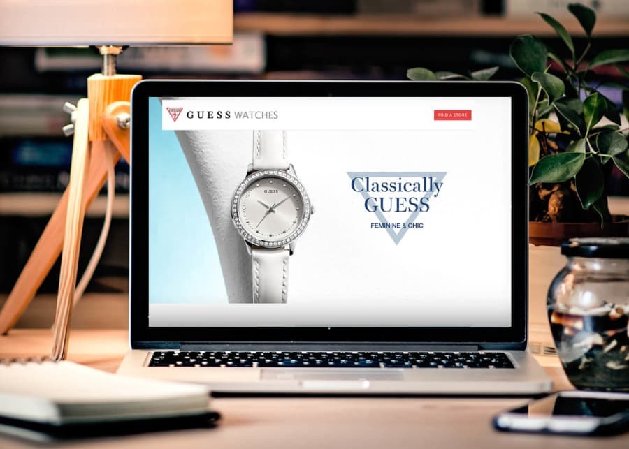 Guess Watches Landing Page Platform