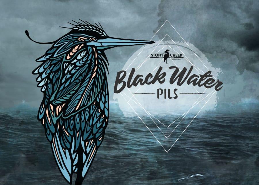 Stony Creek Black Water Pils Packaging