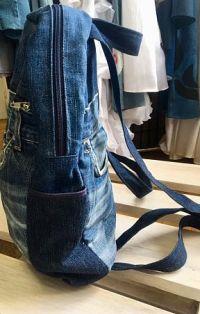 Hátizsák farmer övrészekből nagy - Rethy Fashion