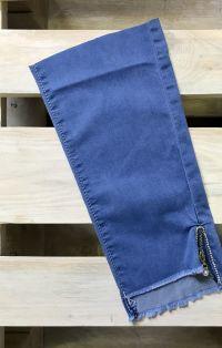 Világoskék cipzáros farmernadrág szár | Rethy Fashion