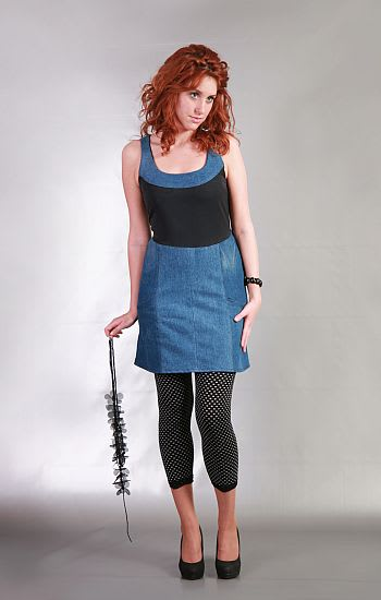 Színes betétes ruha - Rethy Fashion