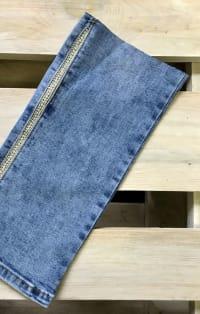 Ezüstcsíkos farmernadrág szár | Rethy Fashion