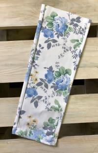 Kék virágos farmernadrág szár | Rethy Fashion