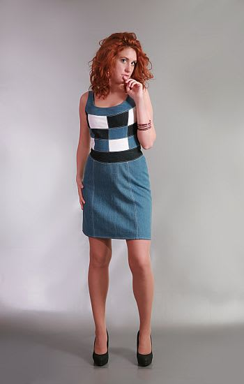 Kockás ruha - Rethy Fashion