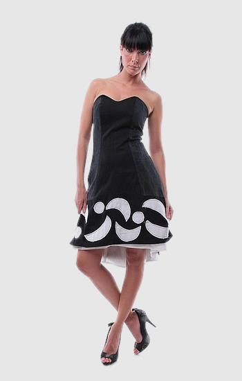 "Fekete ""holdas"" alkalmi ruha - Rethy Fashion"