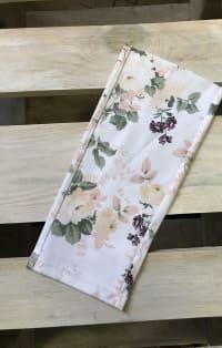 Bézs virágos farmernadrág szár | Eethy Fashion